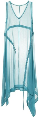 Taylor sheer draped midi dress