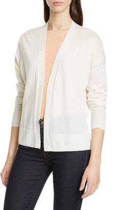 Nordstrom Signature Cashmere & Linen High/Low Cardigan