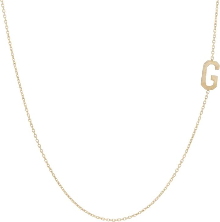 Bianca Pratt Initial Necklace-Colorless