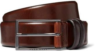 HUGO BOSS 3.5cm Brown Carmello Leather Belt
