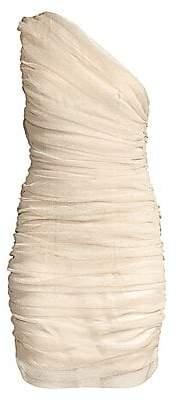 Mestiza New York Women's Savannah Vivienne Ruched One-Shoulder Mini Dress - Size 0