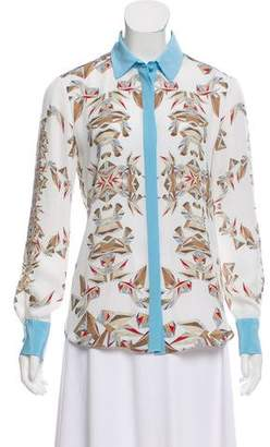 Prabal Gurung Printed Silk Top