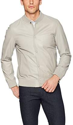 Theory Men's Hubert Varsity Leather Jacket