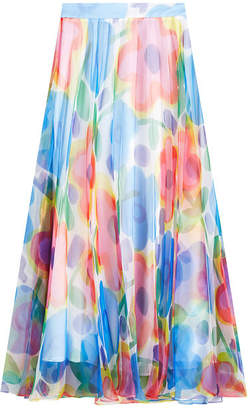 Christopher Kane Printed Chiffon Maxi Skirt