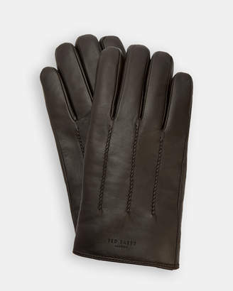 Ted Baker RAINBOE Leather wool-lined gloves