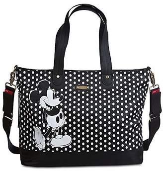 Disney Store Mickey Mouse Diaper Bag Storksak Black White Polka Dots New