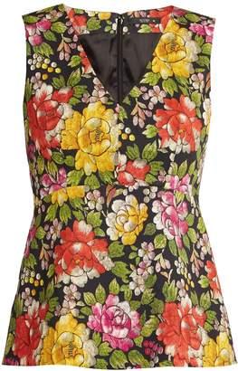 Etro Carmen peony-print stretch-cotton sleeveless top