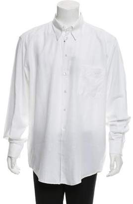 Versace V2 Logo Print Button-Up Shirt w/ Tags