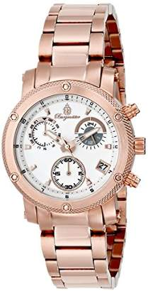 Burgmeister Tampico Women's Quartz Watch with Silver Dial Analogue Display and Stainless Steel Rose Gold Plated Bracelet BM524-318
