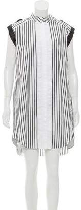 Belstaff Sleeveless Striped Shirt Dress