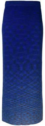 N.Peal gradient knitted pencil skirt