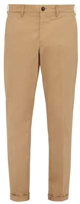 Prada Slim Leg Cotton Blend Chino Trousers - Mens - Beige