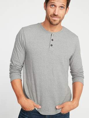Old Navy Double-Knit Long-Sleeve Henley for Men