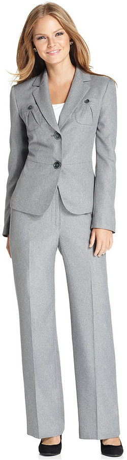 Le Suit Pantsuit, Pleated-Pocket Jacket & Pants