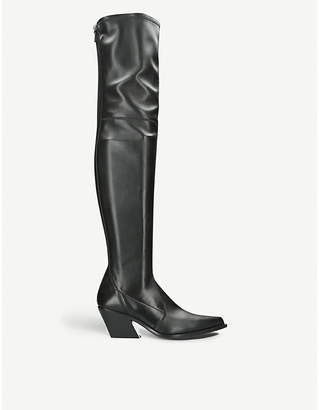 Givenchy High stretch-leather square-heel boots