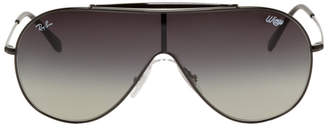 Ray-Ban Black and Grey Pilot Wings Sunglasses