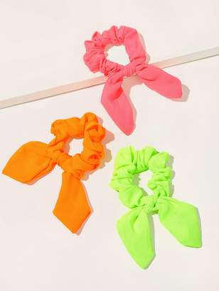 Shein Neon Rabbit Ear Hair Tie 3pcs