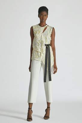 Yigal Azrouel Daffodil Feather Fil Coupe Top