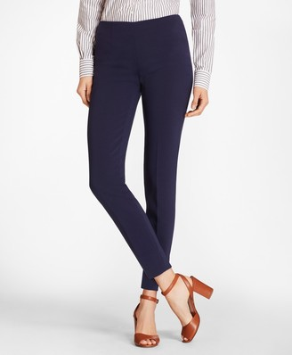 Brooks Brothers Double-Weave Crepe Ankle Pants