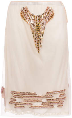 Prada sequin embellished skirt