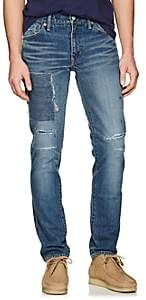 Visvim Men's Distressed Slim Jeans-Blue