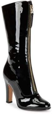 Valentino Mid-Calf Leather Ankle Boots