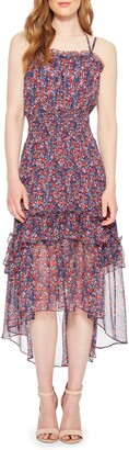 Parker Amethyst Silk High/Low Dress