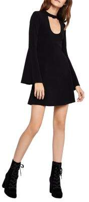 BCBGeneration Bell-Sleeve Cut-Out Cocktail Dress
