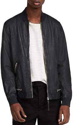 AllSaints Madden Leather Bomber Jacket