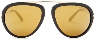 Tom Ford Stacy 57mm Aviator Sunglasses