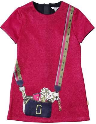 Little Marc Jacobs Printed Lurex & Satin Dress