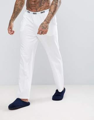Asos Design Straight Leg Jersey Pyjama Bottom With Branded Waistband