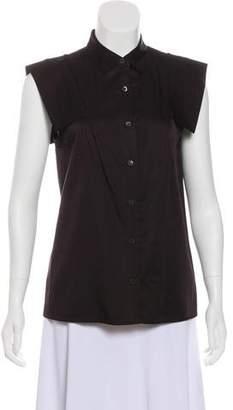 Dries Van Noten Sleeveless Button-Up Top