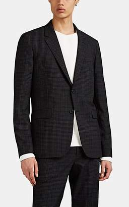 Theory Men's Checked Basket-Weave Wool Two-Button Sportcoat - Black