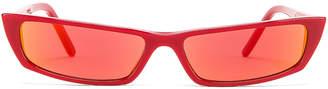 Acne Studios Agar Sunglasses in Red & Orange Mirror | FWRD