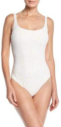 Tory Burch Daisy One-Piece Tank Swimsuit