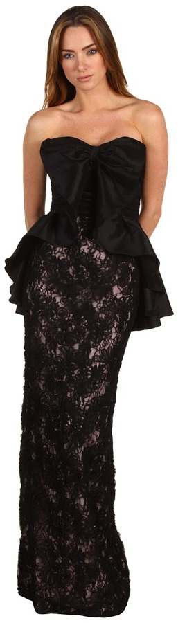 Badgley Mischka - Emb Lace Combo Gown