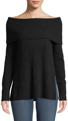 Neiman Marcus Cashmere Off-The-Shoulder Tunic
