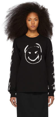 Undercover Black Happy Face Long Sleeve T-Shirt