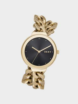 DKNY Astoria 38mm Gold-Tone Stainless Steel Watch With Bracelet Strap
