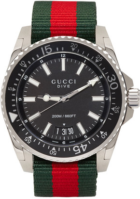 Gucci Silver Dive Watch $950 thestylecure.com