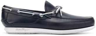 Salvatore Ferragamo contrast bow loafers