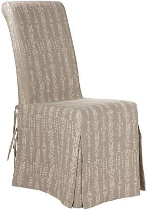 OKA Linen Slip Cover for Echo Dining Chair, with Skirt - Topkapi