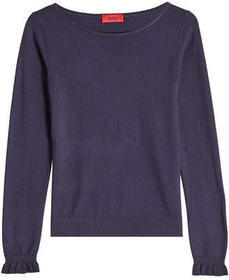 HUGO Pullover with Silk and Cotton
