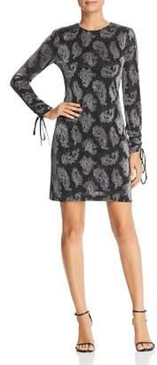 MICHAEL Michael Kors Paisley Drawstring-Sleeve Dress
