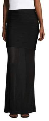 Herve Leger Long Bandage Skirt