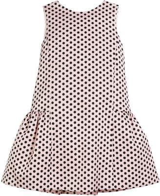Milly Camellia Polka-Dot Ruffle Party Dress Size 4-7