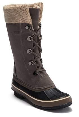 Northside Sun Peak Waterproof Suede Knit Faux Fur Lined Boot