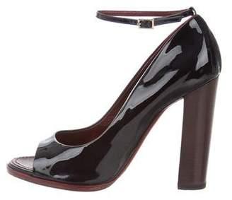 Nina Ricci Patent Leather Peep-Toe Pumps