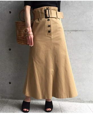 aquagirl (アクアガール) - aquagirl トレンチタッチミモレスカート アクアガール スカート